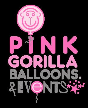 Pink Gorilla Balloons Mobile Logo